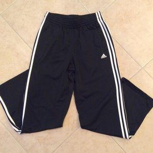 Adidas 3 Stripe Track Athletic Pants Size Medium